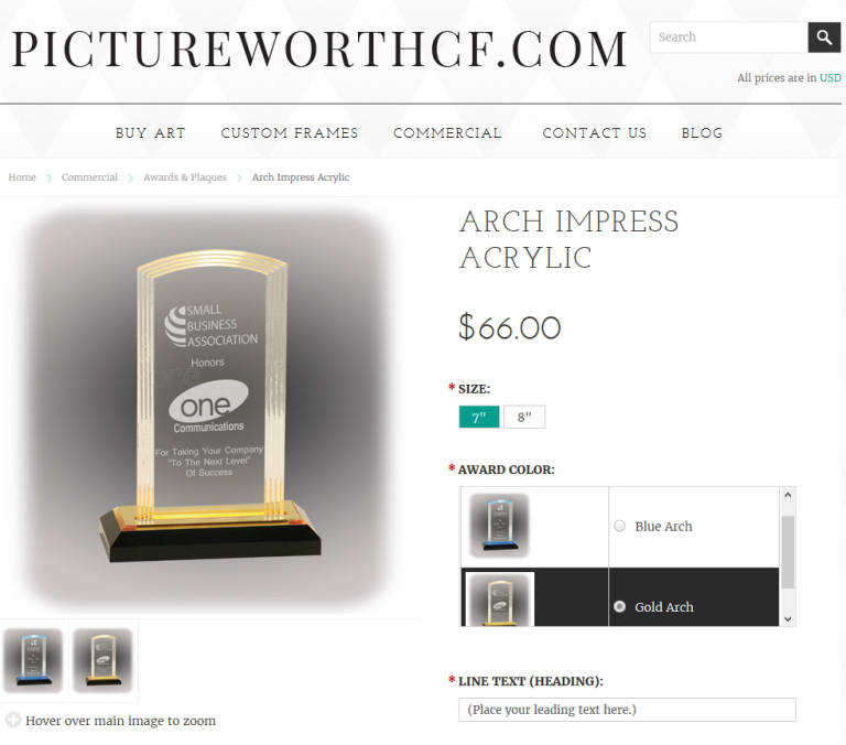 acrylicarchtrophy